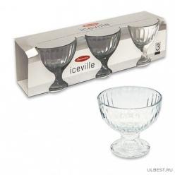 Набор креманок ICE VILLE 3 шт. h=100 мм арт.51018B/