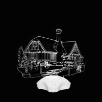 Светильник акриловый Деревня (003139)
