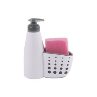 Диспенсер для жидкого мыла с местом для хранения губки для посуды Dispenser арт.004664