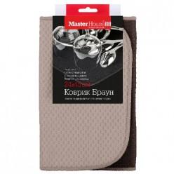 Коврик из микрофибры для сушки коврик Браун 24*45см (60447) Мастер Хаус