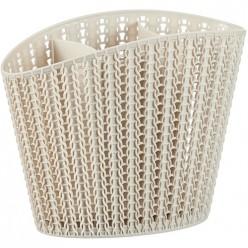 Сушилка для столовых приборов ВЯЗАНИЕ белый ротанг М1166