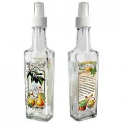 Бутылочка с кнопочным распылителем для оливкового масла на пряных травах, 100 мл, стекло  626551