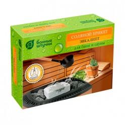 Соляной брикет с травами Эвкалипт, 1300 г для бани и сауны Банные штучки/ 9 32255