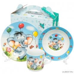Набор детский 3пр Пони (тарелка 17,5см, салатник 15см, кружка 230мл) под/уп C589# DANIKS (320047)
