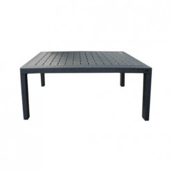 Стол пластиковый большой Rattan 1532х789х701мм, горький шоколад ING6184