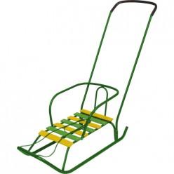 Санки дет.Ветерок 2 игрушка (В2/З2 зеленый)