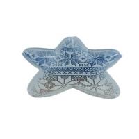 Тарелка звезда санты 23 см () арт.15094/в