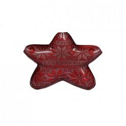 Тарелка звезда дедушки мороза 23 см () арт.15094/r