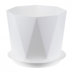 Горшок для цветов с поддоном IDEA Призма 4,7л цвет белый М3139