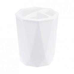 Подставка для зубных щеток ПРИЗМА белый М2242