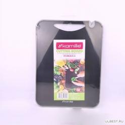 Доска разделочная 37*28*0.8см пластиковая (10077)