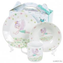 Набор детский 3пр Феечка (тарелка 17,5см, салатник 15см, кружка 230мл) под/уп C644# DANIKS (350706