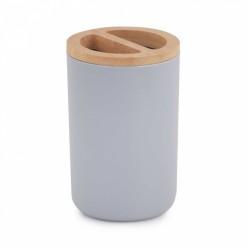 Подставка для зубных щеток Бамбук (серый) (уп.18) М8057