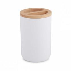 Подставка для зубных щеток Бамбук (белый) (уп.18) М8055