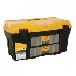 Ящик для инструментов УРАН 21' (с двумя консолями и коробками) желтый с черным М2927