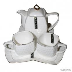 Набор чайный Коралл Снежная королева квадрат 2/4 240мл/650мл 2 персоны