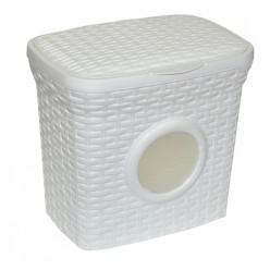 Контейнер для стирального порошка с иллюминатором 10л Ротанг (белый) 421006 Виолет
