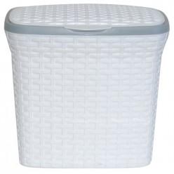 Контейнер для стирального порошка 10л  Ротанг (белый) 421106 Виолет