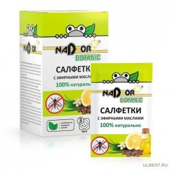Салфетки влажные с эфирным маслом от комаров 10шт NAT001/20
