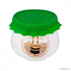 Баночка для меда/варенья с силиконовой крышкой Сура 180мл. д=8см в=7см 359-454