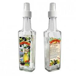 Бутылочка с кнопочным распылителем для оливкового масла, 100 мл, стекло  626557