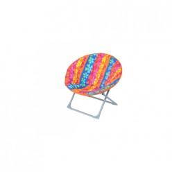 Кресло складное Рио (каркас серый, ткань разноцветная)