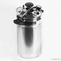Автоклав-стерилизатор Домашний погребок, нерж. манометр, термометр клапан сброса изб. давления