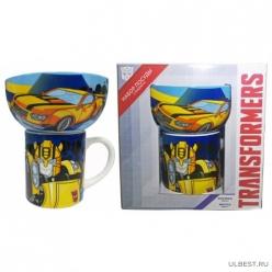 Набор Transformers Бамблби 2 пр.: кружка 200 мл, миска 300 мл в подарочной упаковке арт.TRS2-1