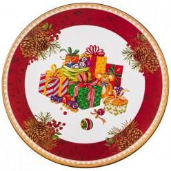 Поднос коллекция Рождественская сказка 33*33 см без упаковки (мал=12шт./кор=24шт.) 106-558