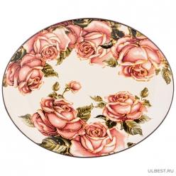 Блюдо овальное Корейская роза 31,5*25,5 см. высота=3 см. 358-1700