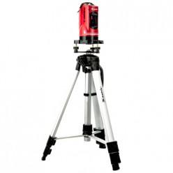 Уровень лазерный самовыравнивающийся, 150мм,штатив 1100мм,набор в пласт.кейсе,МАТRIХ 35033
