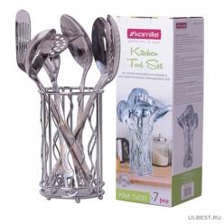 Набор кухонных принадлежностей 7 предметов из нержавеющей стали (5231)