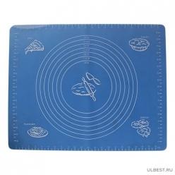 Коврик для раскатки теста и выпечки BLS-19*15 с разм., размеры: 47,5*37,5 см (силикон) арт.985813