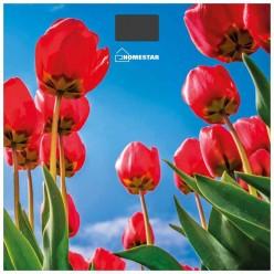 Весы напольные электронные HOMESTAR HS-6001I красные тюльпаны (стекл поверхн, 180 кг) арт.005187
