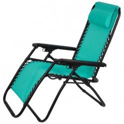 Кресло-шезлонг складное CHO-137-13 Люкс цв. мятный арт.993122