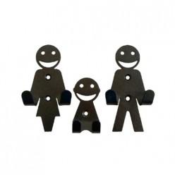 Набор крючков Семья черный (3шт.) арт.008311