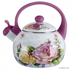 Чайник 2,5 л со свистком EM-25101/35 Чайная роза