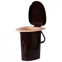 Ведро-туалет шоколадное Ар-Пласт