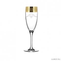EAV63-1687/S Набор - Бокалы для шампанского 6 шт с узором Барокко