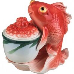 Икорница Золотая рыбка 15*8 см.высота=14 см., 150 мл. 58-1006