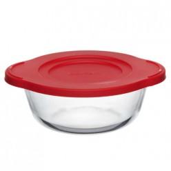 Посуда для свч круглая 1,0 л c пластиковой крышкой арт.59133K