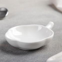 Соусник с ручкой Цветочик 10,5х7х2 см, цвет белый арт.4951210 г.Екатеринбург