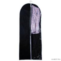 Чехол для одежды подвесной GCN-60*150, нетканка, размер: 60*150см, черный арт.312104