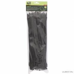 Хомуты, 300 х 4,8 мм, пластиковые, черные, 100 шт.// Сибртех арт.45565
