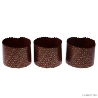 Набор Бумажные формы для кулича 3 шт hk47353