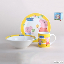 Набор посуды 1/3, Свинка Пеппа леденцы TSET3PPL