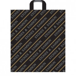 Пакет с петлевой ручкой 43 х 48+3 (40) Stones & Samson черный (А) Артпласт ПТЛ00224
