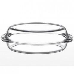 Посуда для СВЧ овальная 1,7л + крышка 1,7л (утятница) 33,5х19х11см арт.59032