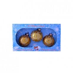 Набор Блеск,  3 шаров, 60 мм., в подарочной упаковке КНГ-60-5018