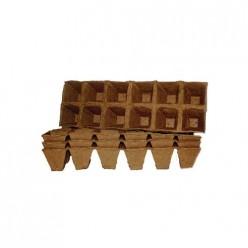 Горшочки торфяные 50х50 (квадратный) б/уп.1440шт,м/уп.12шт